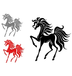 Set of horse mascots vector
