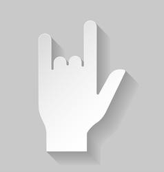 Hard rock sign vector