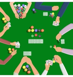 People playing in poker vector