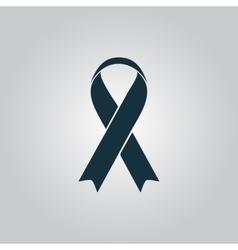 Flat ribbon aids symbol icon vector