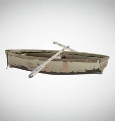 Old boat vector