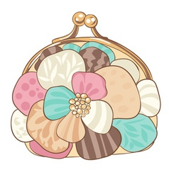 Pretty purse with pastel colors vector