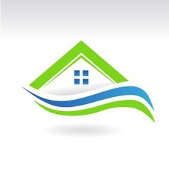 House swoosh icon logo vector