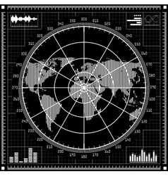 Radar screen black and white vector