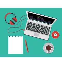 Working or studying concept flat style vector