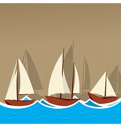 Sailing ships background vector