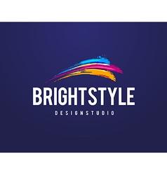 Bright style logo vector