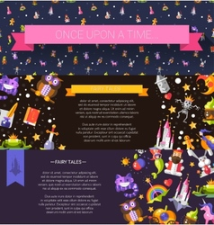 Set of modern flat design fairy tales and magic vector