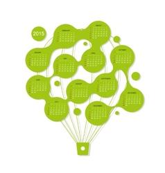 Calendar grid 2015 air balloon for your design vector