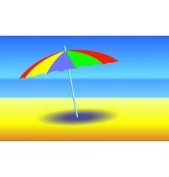 Umbrella on sunny beach vector