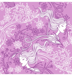 Feminine floral seamless pattern vector