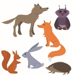 Set with wild animals vector