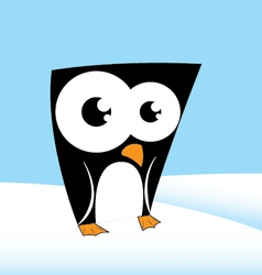 Cute penguin character vector