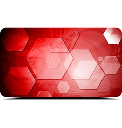 Red backdrop with hexagons texture vector