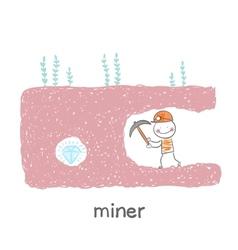 Miner found a gem vector