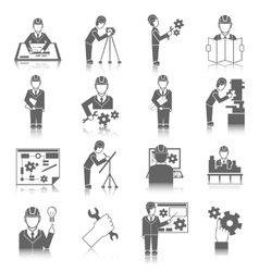 Set of engineer icons vector