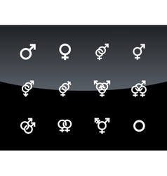 Gender symbol on black background vector