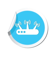 Router blue label vector