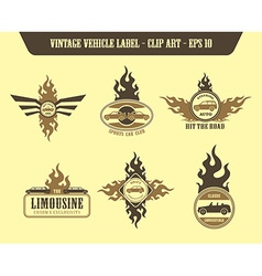 Vehicle label sticker vector