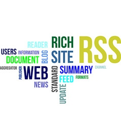 Word cloud rss vector