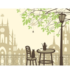 Spring in the old town vector