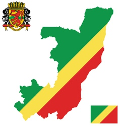 Republic of congo flag vector