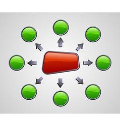 Gloss marketing diagram vector