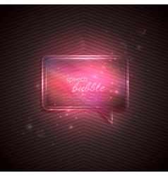 Abstract pink background with glass transparent vector