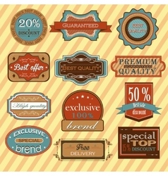 Collection of vintage retro labels badges and vector