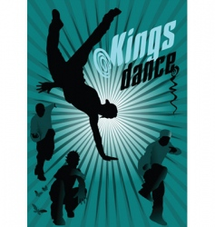 Kings dance vector
