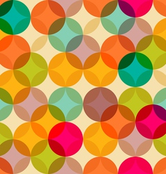 Circles vintage pattern vector