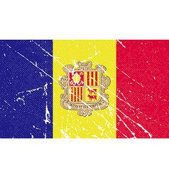 Flag of andorra with old texture vector