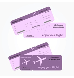 Variant of air ticket vector