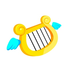 Icon harp vector
