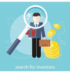 Search for investors vector