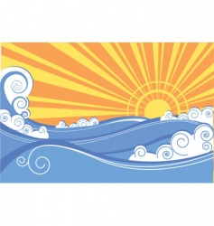 Abstract seascape vector