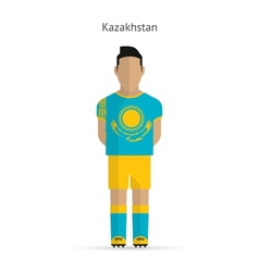Kazakhstan football player soccer uniform vector