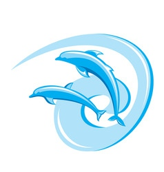 Ornate dolphins background vector