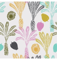 Tropical fruit drawing background vector
