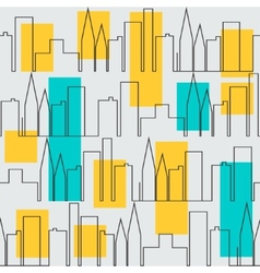 Seamless city pattern vector