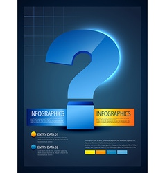 Infographic template of question mark vector