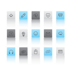 Light and dark web icons vector