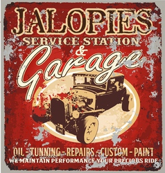 Jalopy garage vector