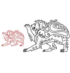 Vintage royal lion for heraldry or tattoo design vector