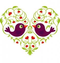 Valentine flowers vector