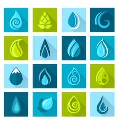 Water drops icons vector