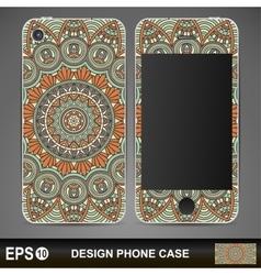 Phone case design vintage decorative elements vector