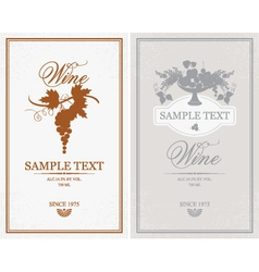 Labels for wine vector