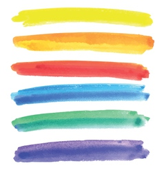 Watercolor multicolored stripes vector