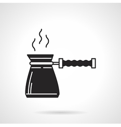 Coffee pot black icon vector